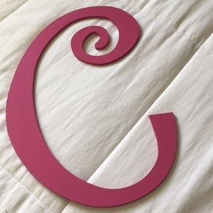 "Other - Wooden Letter ""C"" Art"